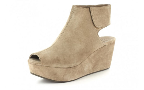 Chocolat Blu White Wedge in Taupe Suede-Chocolat Blu-The Bugs Ear