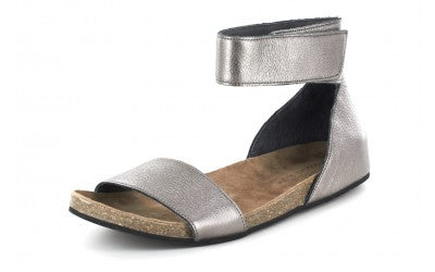 Chocolat Blu York Gunmetal Leather Sandal-Chocolat Blu-The Bugs Ear