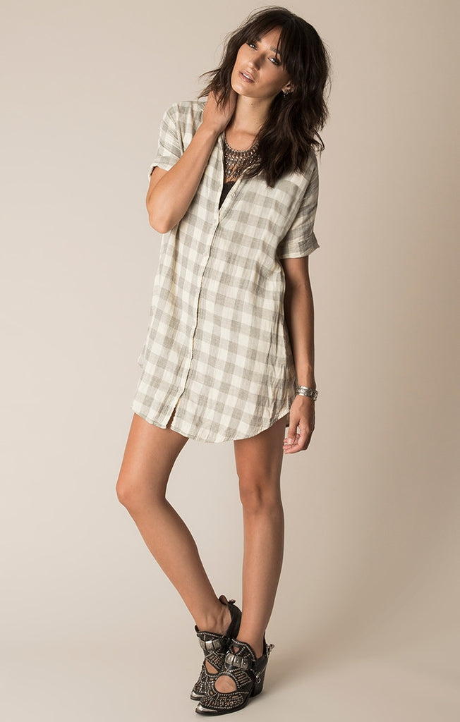 Bandita Plaid Dress-White Crow-The Bugs Ear