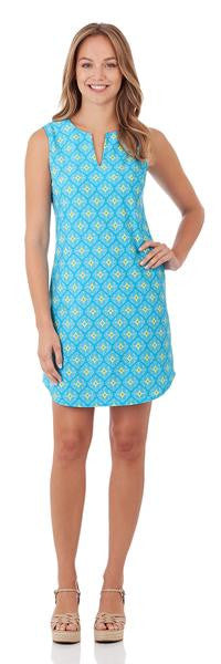 Jude Connally Allison Dress in Mosaic Tiles Turquoise-Jude Connally-The Bugs Ear