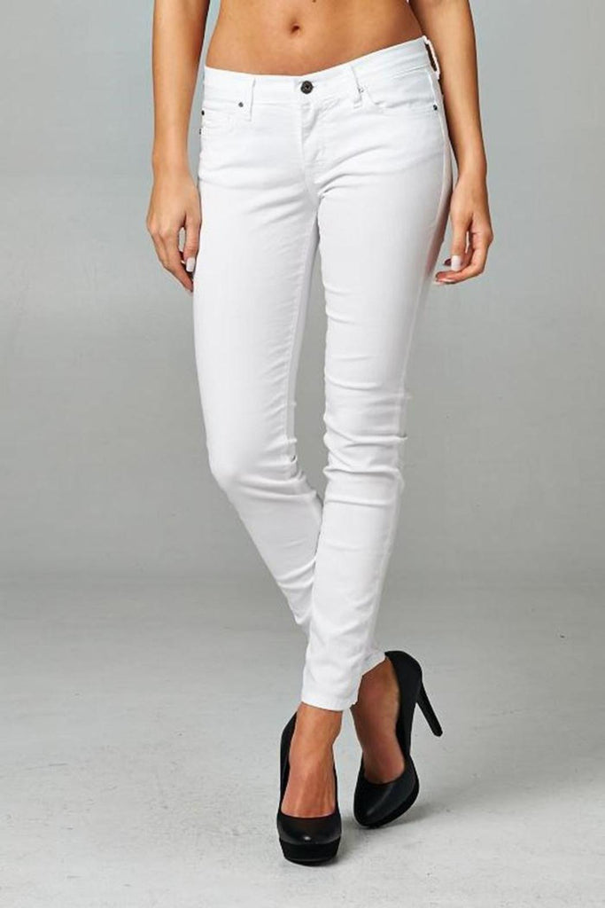AR Color Skinny White Jeans-Angry Rabbit-The Bugs Ear
