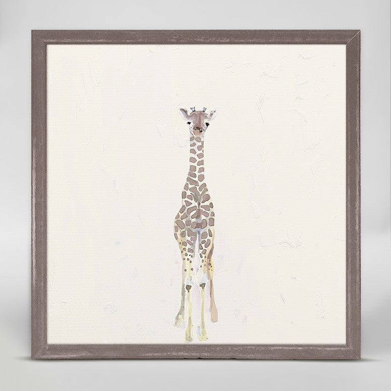 Baby Giraffe Mini Framed Canvas 6x6-Greenbox-The Bugs Ear