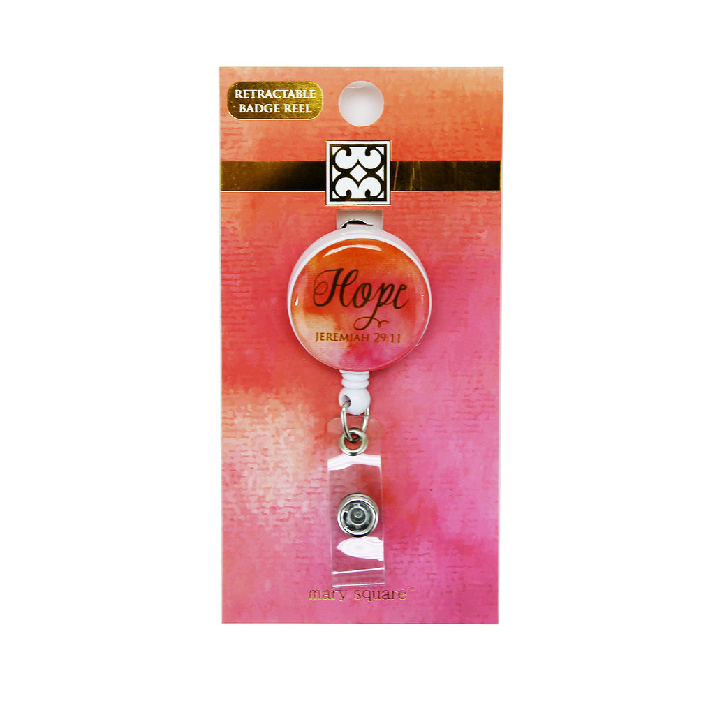 Pink Hope Badge Reel-Mary Square-The Bugs Ear