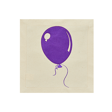 Nora Fleming Pillow Panel Celebrations Purple Balloon-Nora Fleming-The Bugs Ear