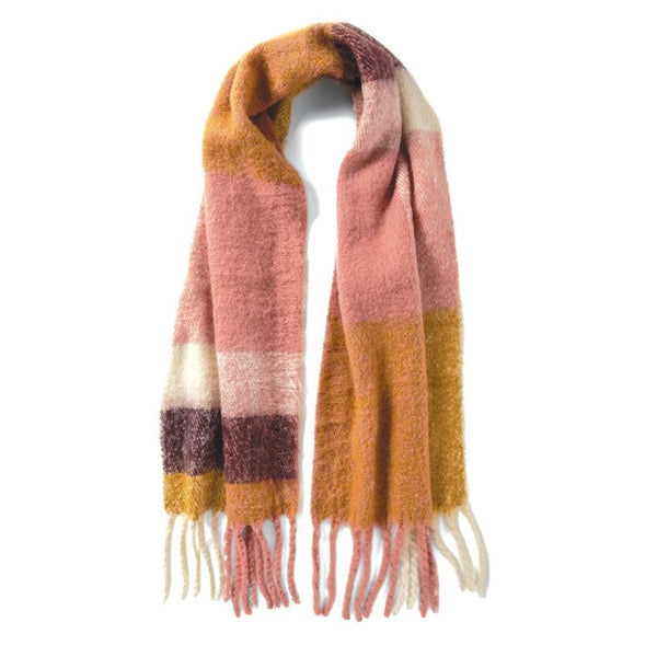 Brixton Oversized Scarf in Berry Blush-Coco and Carmen-The Bugs Ear