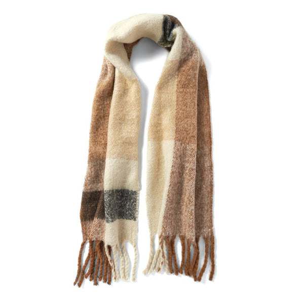 Brixton Oversized Scarf in Cognac and Cream-Coco and Carmen-The Bugs Ear