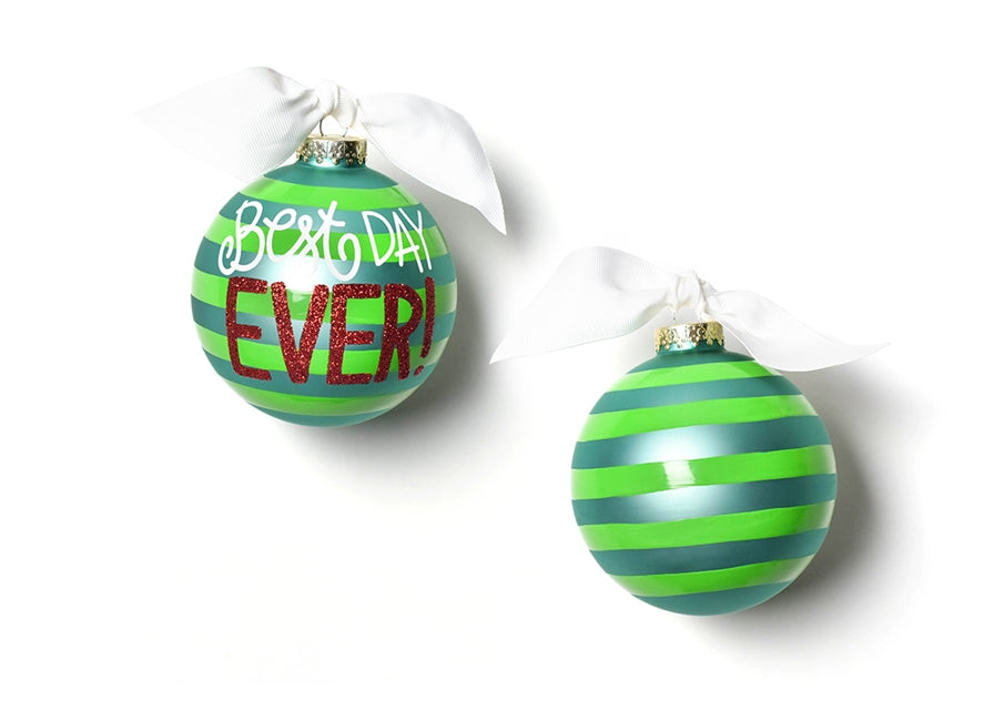 Coton Colors Best Day Ever Glass Ornament-Coton Colors-The Bugs Ear