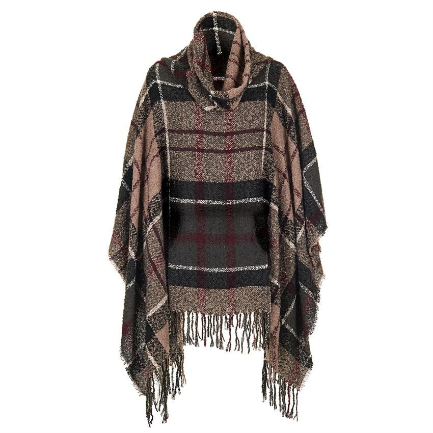Chadwick Plaid Poncho With Pocket Pouch-Coco and Carmen-The Bugs Ear