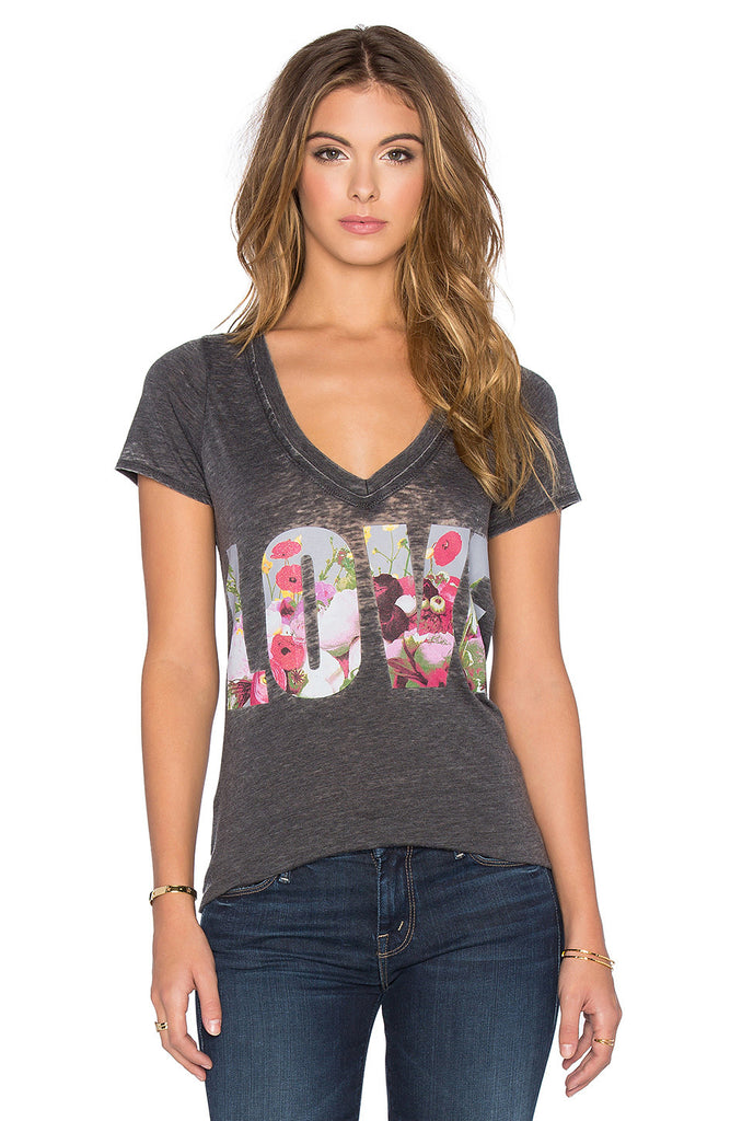 Chaser Floral Love Distressed Tee-Chaser-The Bugs Ear