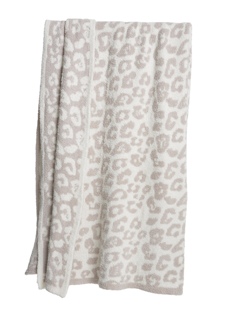 Barefoot Dreams Leopard Print Throw Cream Stone-Barefoot Dreams-The Bugs Ear