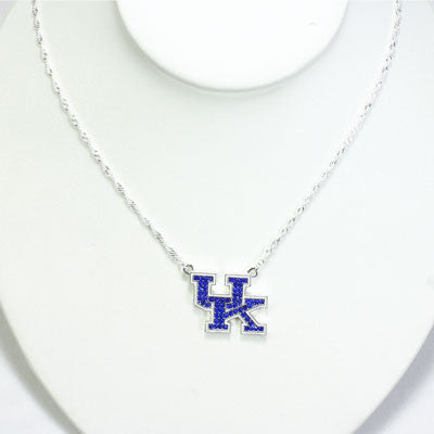 Kentucky Crystal Logo Necklace-Seasons Jewelry-The Bugs Ear