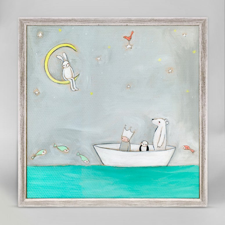 Delightful Dreamers Mini Framed Canvas 6x6-Greenbox-The Bugs Ear