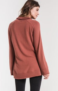 Alicia Soft Spun Knit Mock Neck Pullover Clay-Z Supply-The Bugs Ear
