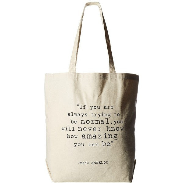 Dogeared Maya Angelou Collection Tote Bag If You're Always Trying-Dogeared-The Bugs Ear