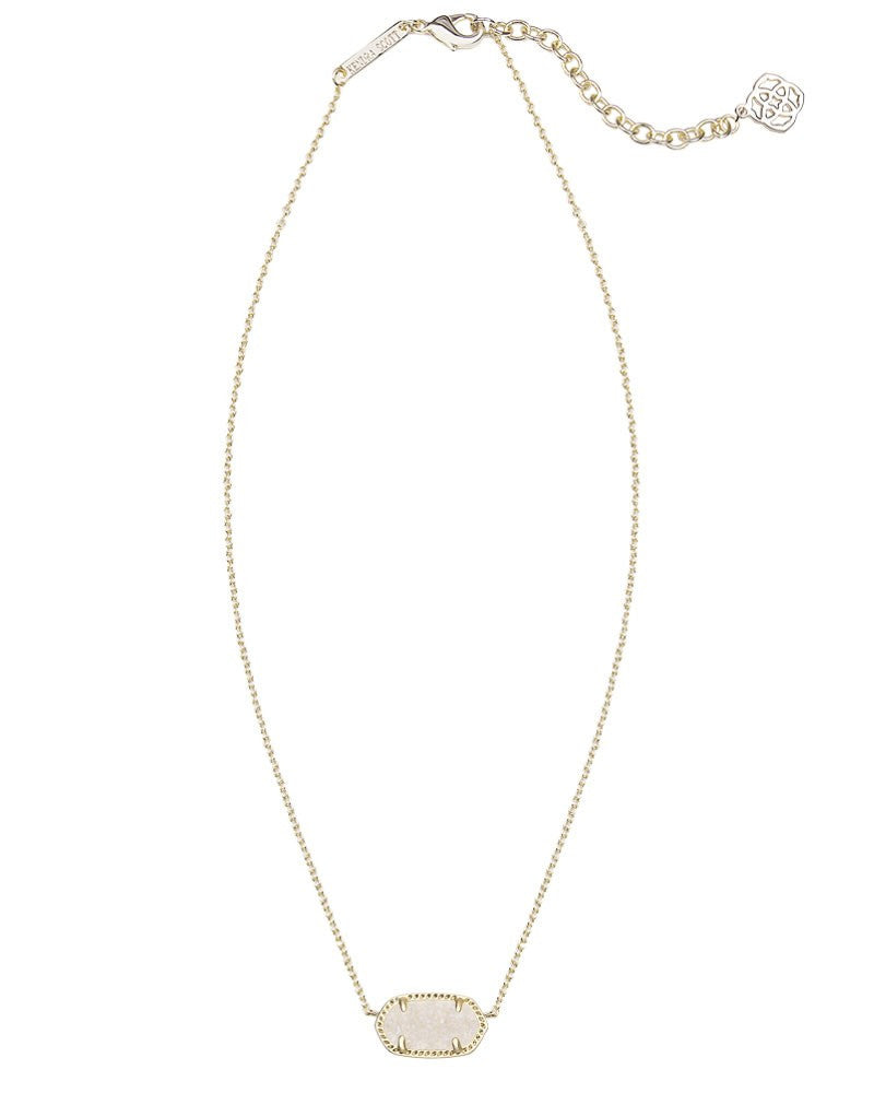 Kendra Scott Elisa Pendant Necklace in Gold Iridescent Drusy-Kendra Scott-The Bugs Ear