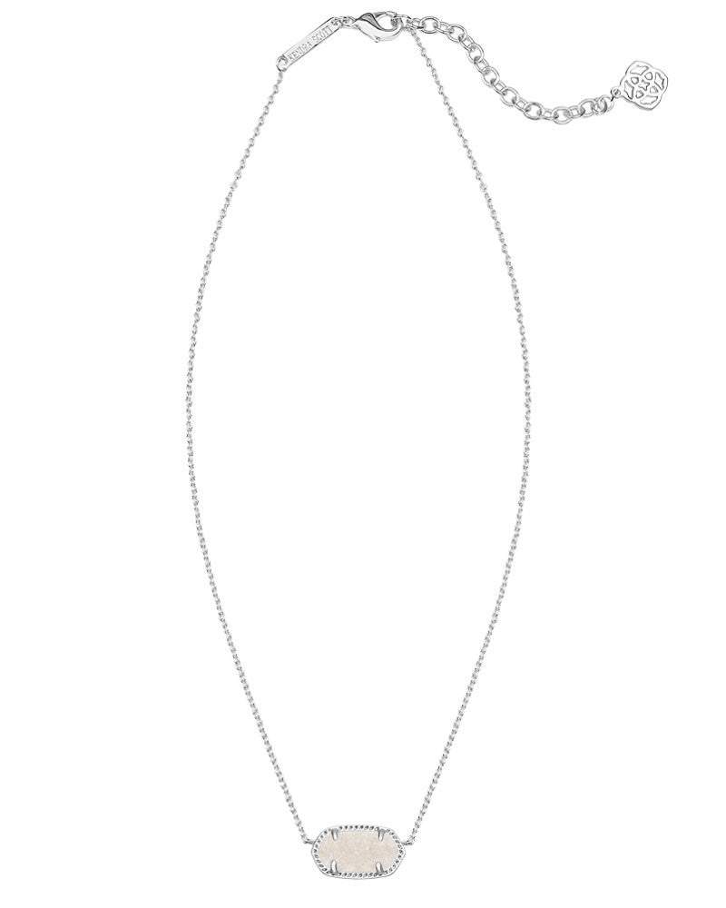 Kendra Scott Elisa Silver Pendant Necklace in Iridescent Drusy-Kendra Scott-The Bugs Ear