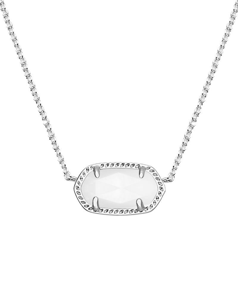 Kendra Scott Elisa Silver Pendant Necklace in Ivory Pearl-Kendra Scott-The Bugs Ear