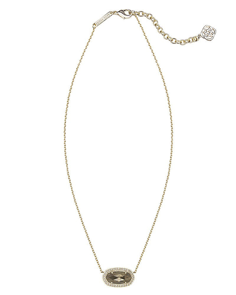Kendra Scott Eloise Pendant Necklace in Pyrite-Kendra Scott-The Bugs Ear