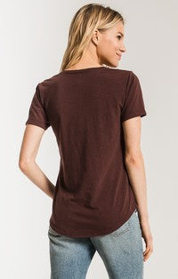 Z Supply The Airy Club Pocket Tee in Reddened Brown-Z Supply-The Bugs Ear