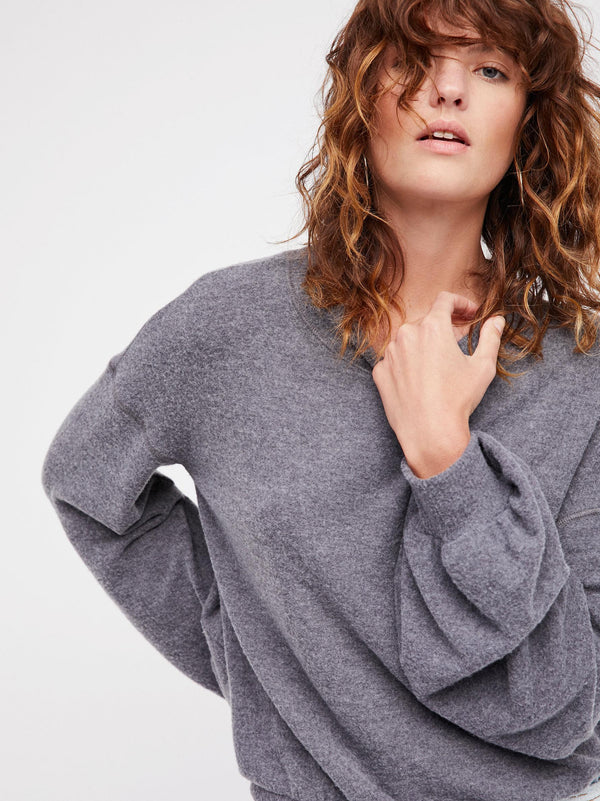 Free People TGIF Pullover in Slate-Free People-The Bugs Ear