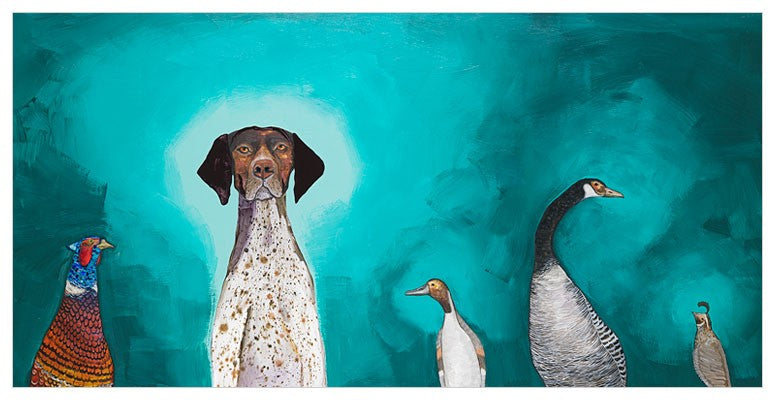 German Shorthaired Pointer Wall Art 24x12-Greenbox-The Bugs Ear