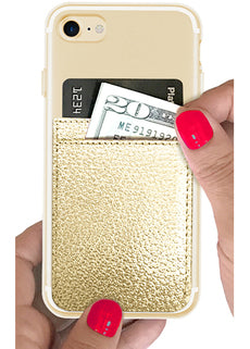 Gold Faux Leather Phone Pocket-iDecoz-The Bugs Ear