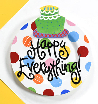 Happy Everything Big Platter Bright Dot-Coton Colors-The Bugs Ear