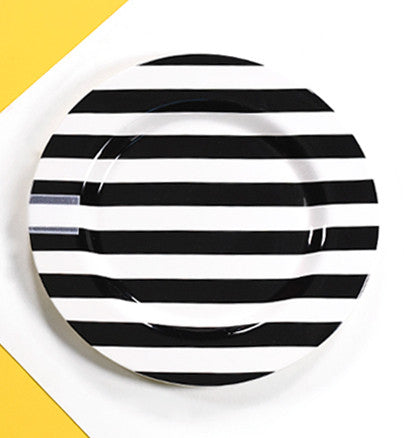 Happy Everything Big Platter Black Stripe-Coton Colors-The Bugs Ear
