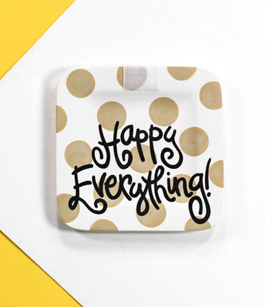 Happy Everything Mini Platter Neutral Dot-Coton Colors-The Bugs Ear