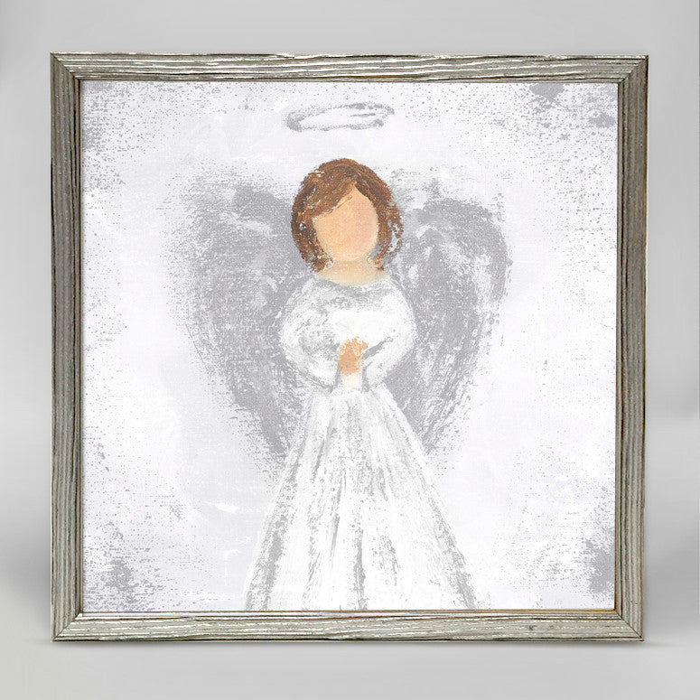 Holiday Collection - Praying Angel - Silver Mini Framed Canvas-Greenbox-The Bugs Ear