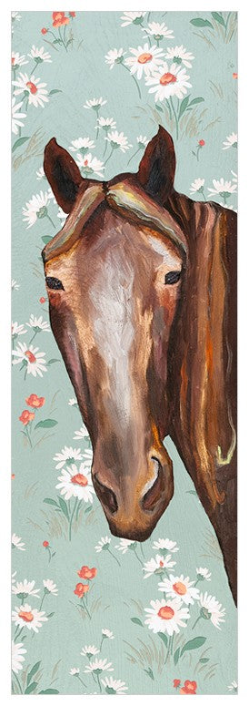 Horse Floral Wall Art 12x36-Greenbox-The Bugs Ear