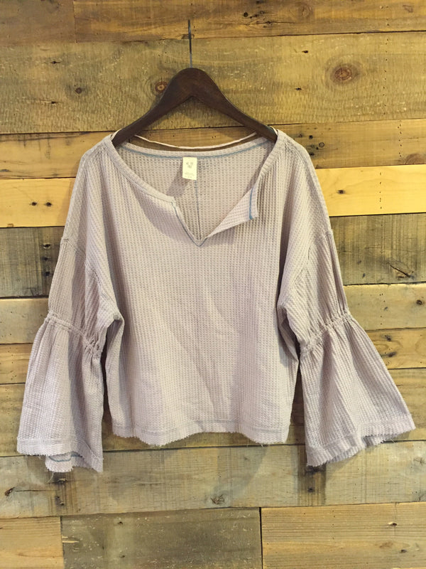 Free People Dahlia Thermal in Grey-Free People-The Bugs Ear
