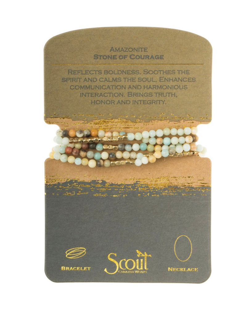 Amazonite Stone of Courage Necklace Bracelet-Scout Curated Wears-The Bugs Ear