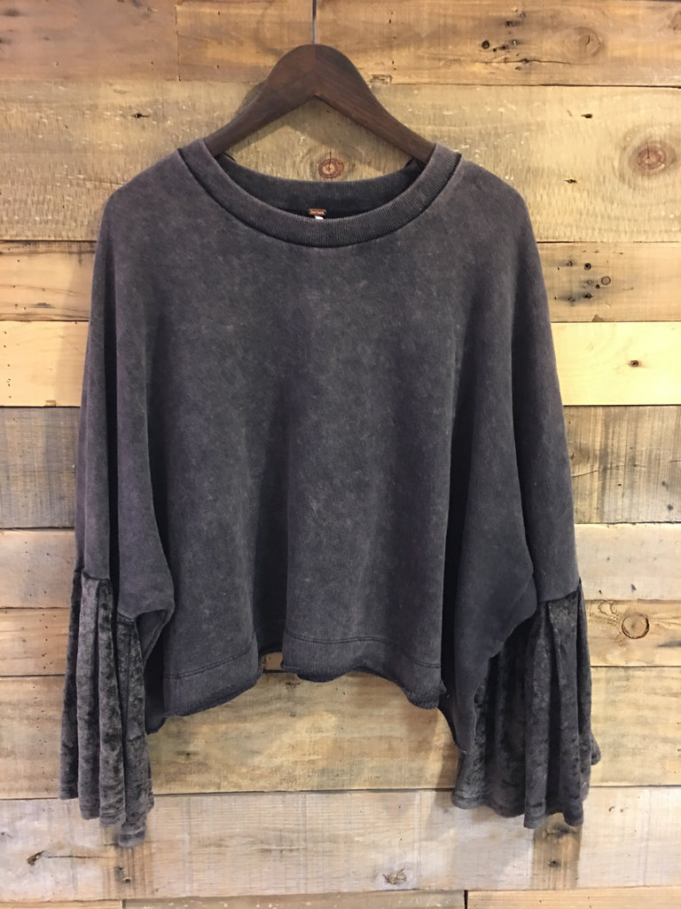 Free People Sleeves Glorious Sleeves Pullover in Black-Free People-The Bugs Ear