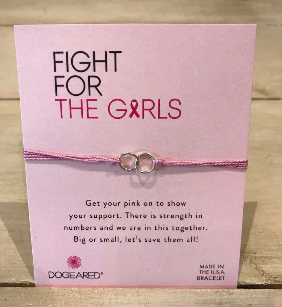 Dogeared Breast Cancer Double Linked Bracelet-Dogeared-The Bugs Ear