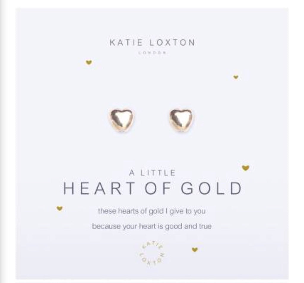 Katie Loxton A Little Heart Of Gold earrings-Katie Loxton-The Bugs Ear