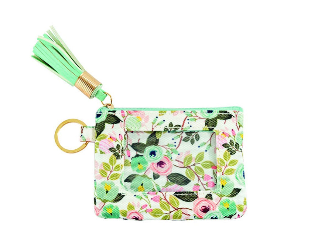 ID Wallet Peach Floral-Mary Square-The Bugs Ear