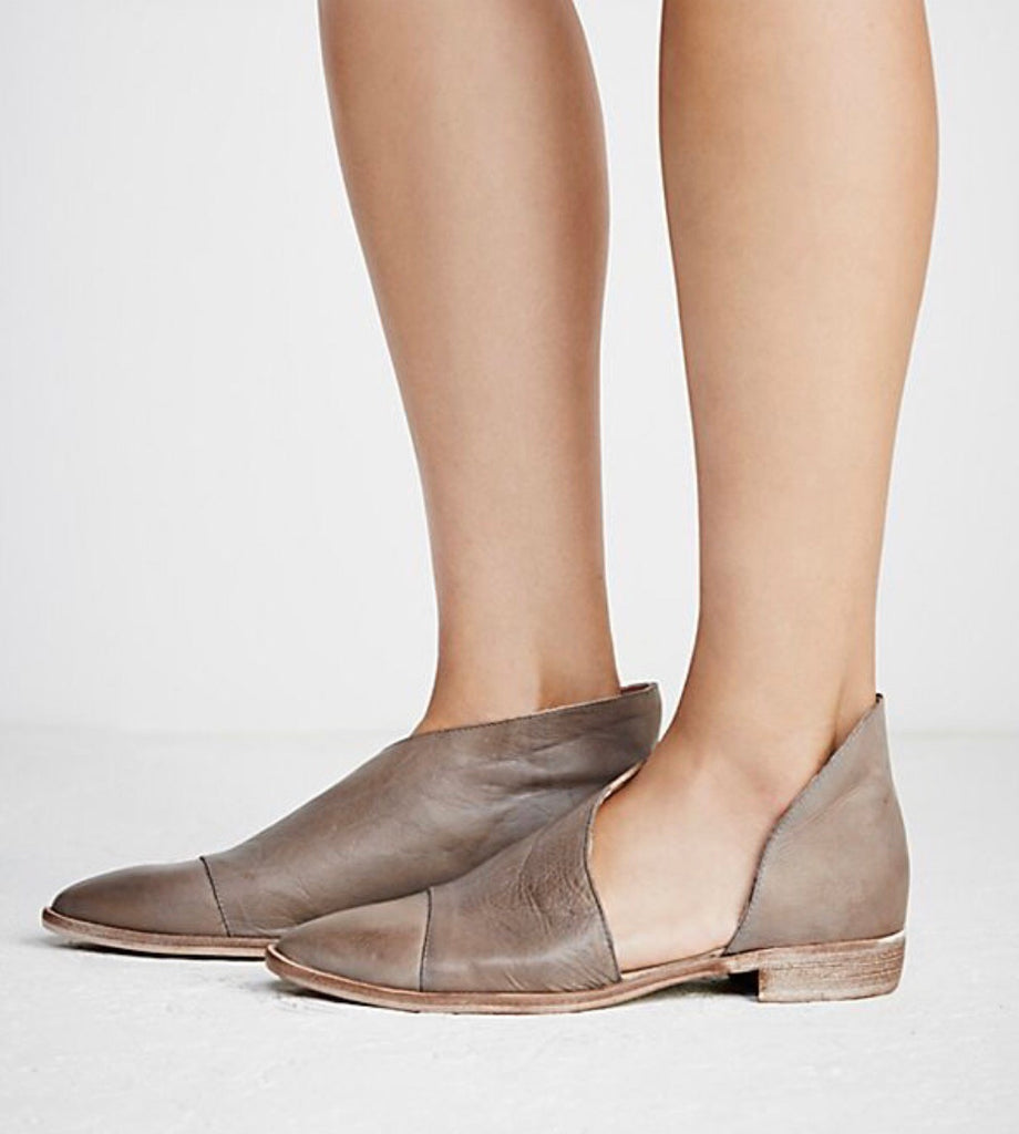 Free People Royale Flat in Grey-Free People-The Bugs Ear