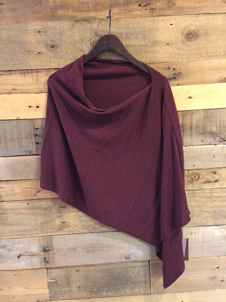 Kerisma Knit Poncho in Burgundy-Kerisma-The Bugs Ear