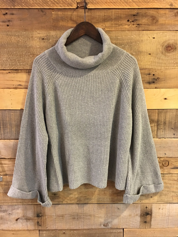 Cordelia Grey Turtleneck Sweater-Laju-The Bugs Ear