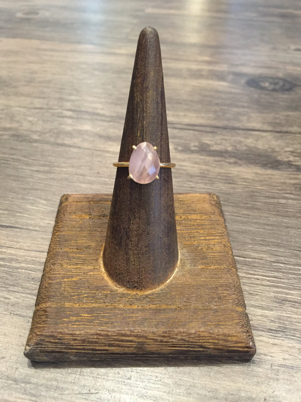 """It Fits"" Freeform Gemstone Ring in Dusty Rose Monalisa-Stia Couture-The Bugs Ear"