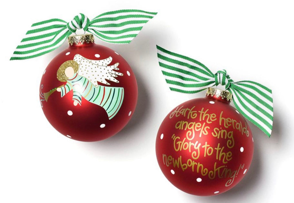 Coton Colors Hark the Herald Angels Glass Ornament-Coton Colors-The Bugs Ear