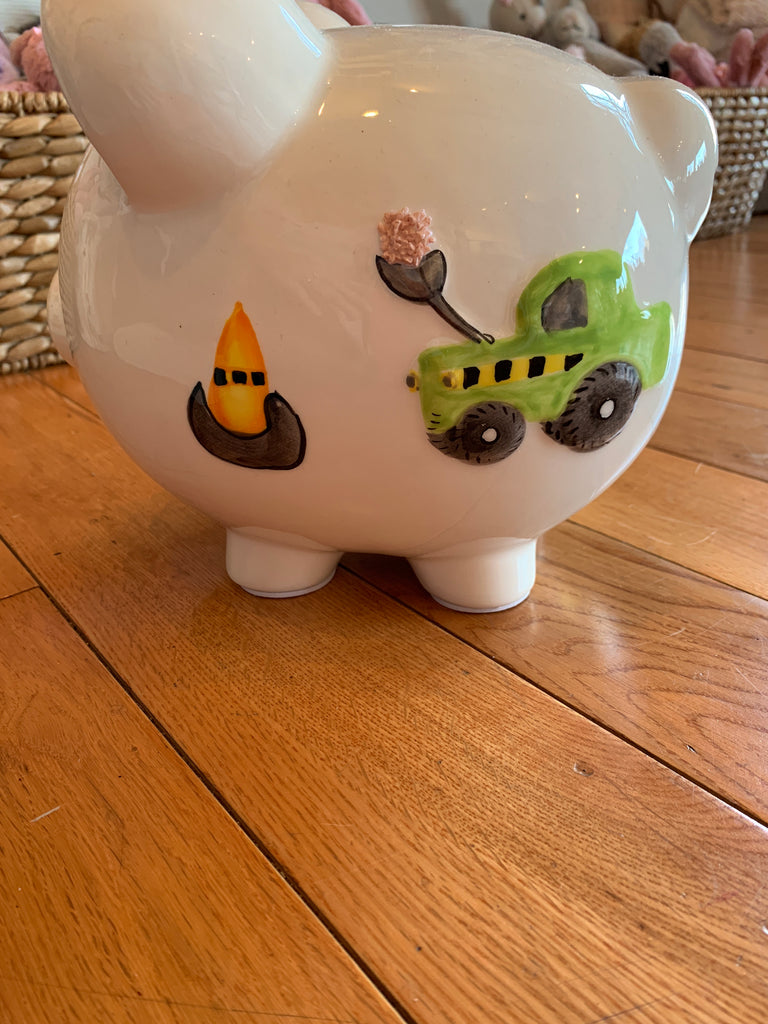Digger Dump Truck Piggy Bank-Child To Cherish-The Bugs Ear