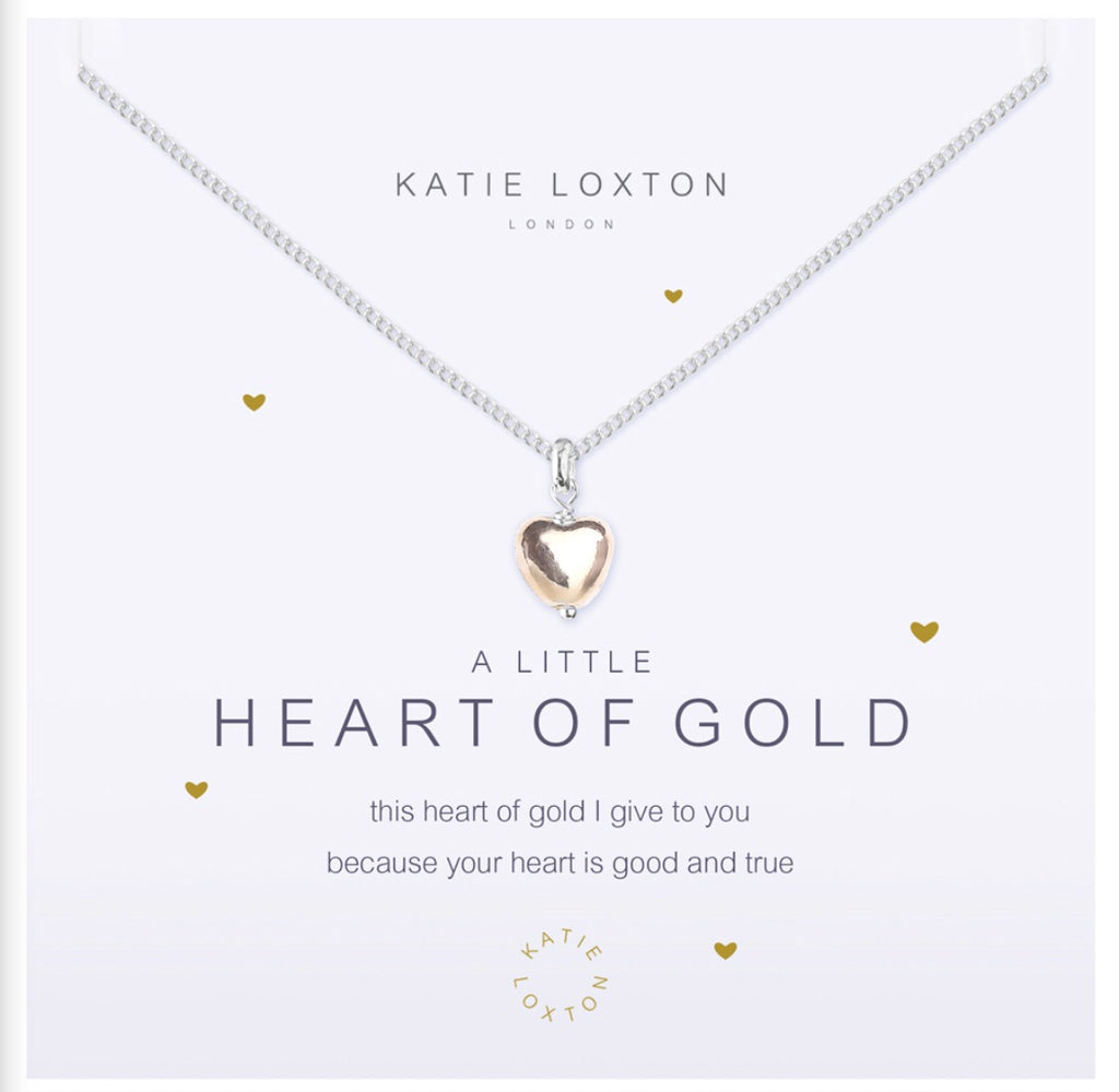Katie Loxton A Little Heart Of Gold necklace-Katie Loxton-The Bugs Ear
