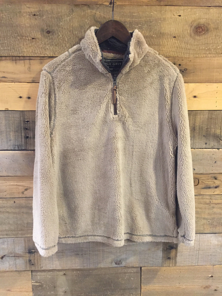True Grit Youth Pebble Pile 1/4 Zip Pullover in Sand-True Grit-The Bugs Ear
