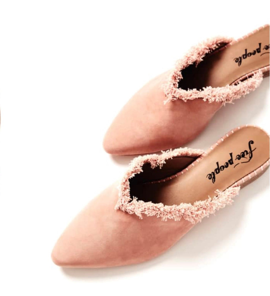 Free People Newport Leather Flats in Pink-Free People-The Bugs Ear