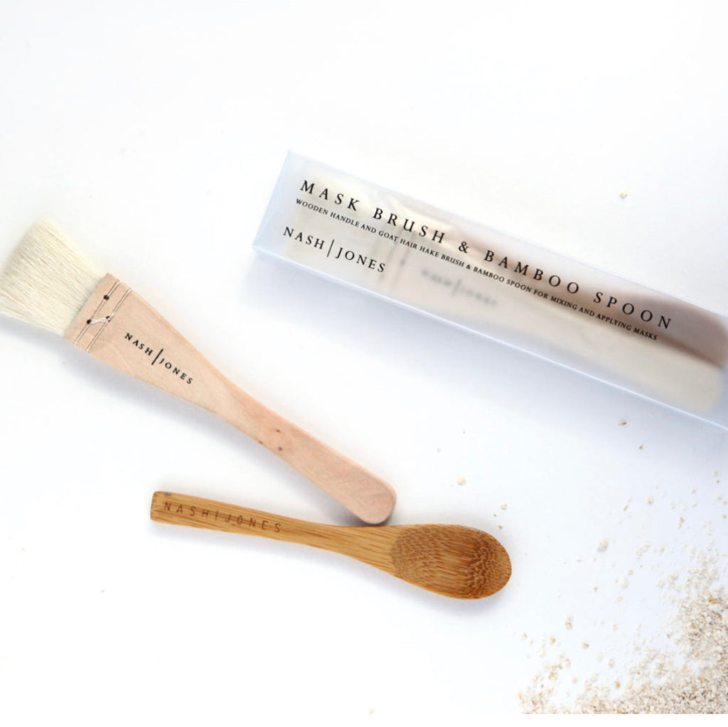 Nash and Jones Bamboo Mixing Spoon and Hake Mask Brush-Nash and Jones-The Bugs Ear