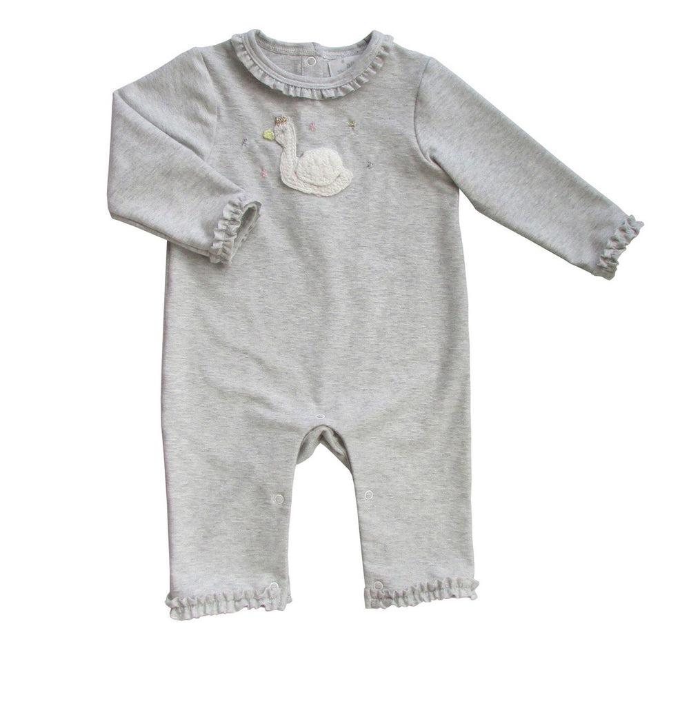 Albetta Crochet Swan Silver Grey Romper-Empress Arts-The Bugs Ear