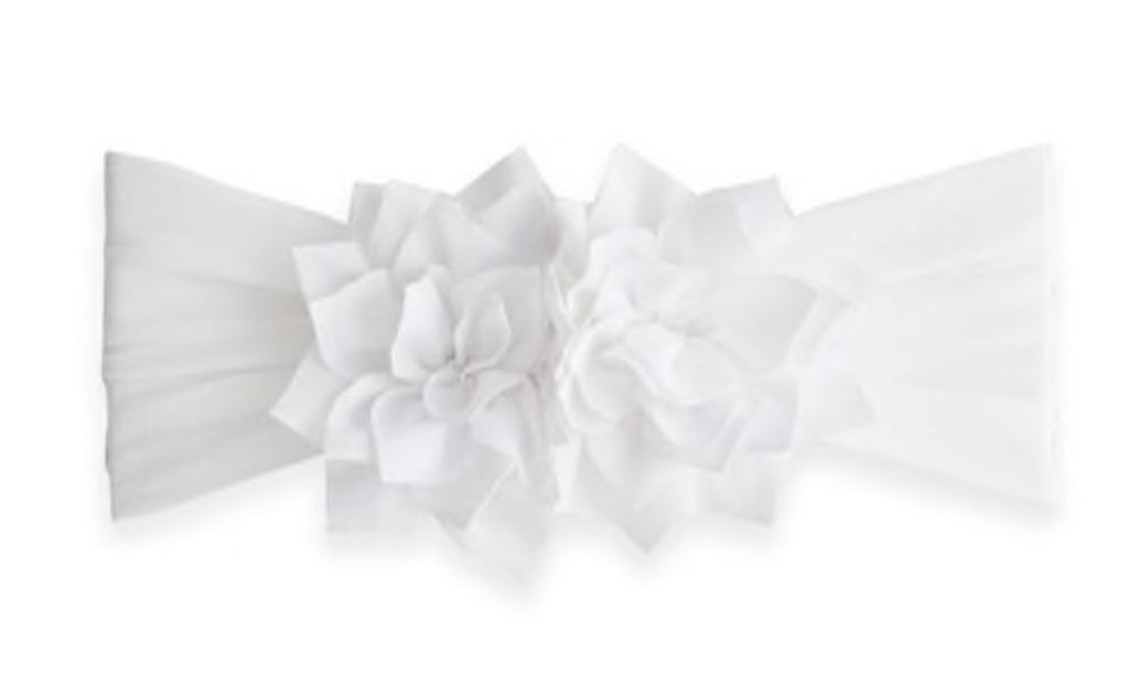 Baby Bling Holiday Poinsettia Flower Headband in White-Baby Bling-The Bugs Ear