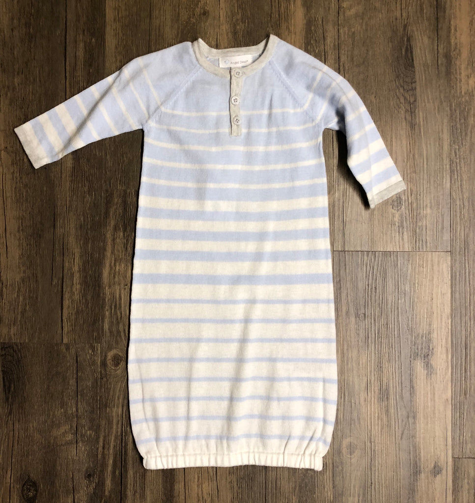 Take Me Home Striped Blue Knit Gown-Angel Dear-The Bugs Ear